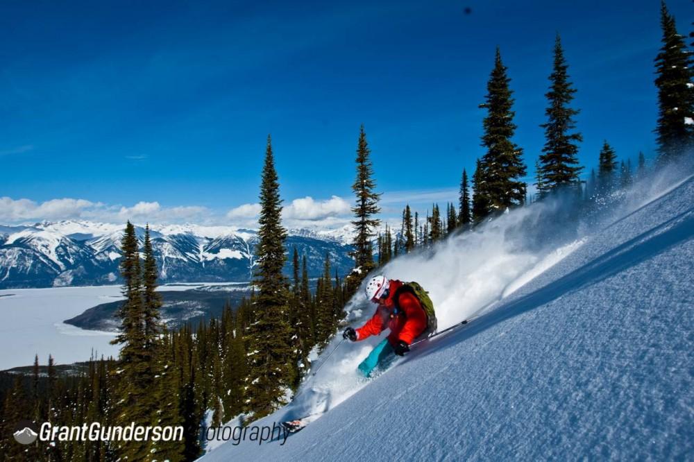 skiing a backbowl great canadian heli skiing GGunderson